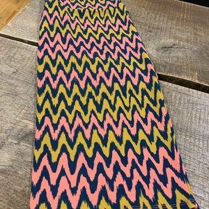 LuLaRoe Fiber Optic Fun 3X stretchy Cassie Skirt